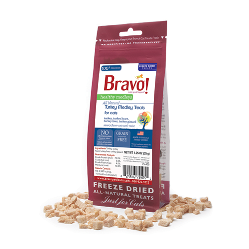 BRAVO! Healthy Medley Turkey Treats for Cats