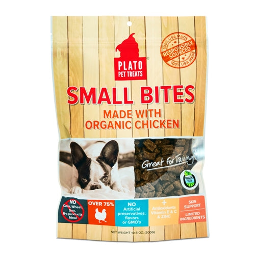 Plato Small Bites Made with Organic Chicken Dog Treats