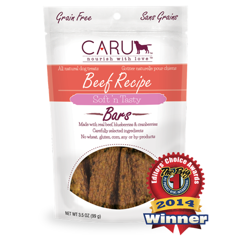 Caru Natural Beef Recipe Bars for Dogs