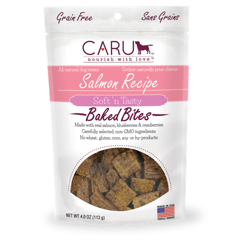 Caru Natural Salmon Recipe Bites for Dogs