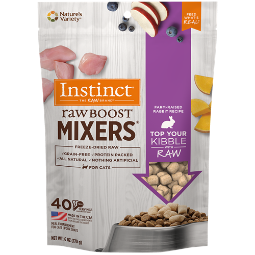 Nature's Variety Freeze Dried Raw Boost Mixer Rabbit for Cats