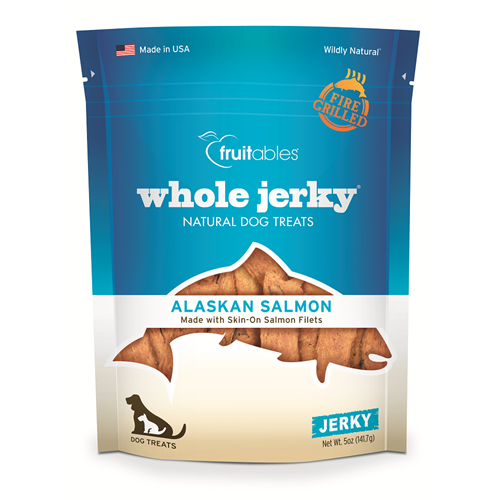 Fruitables - Whole Jerky Grilled Salmon Strips Dog Treats