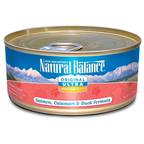 Natural Balance Ultra Whole Body Health Calamari Salmon and Duck Canned Cat Food