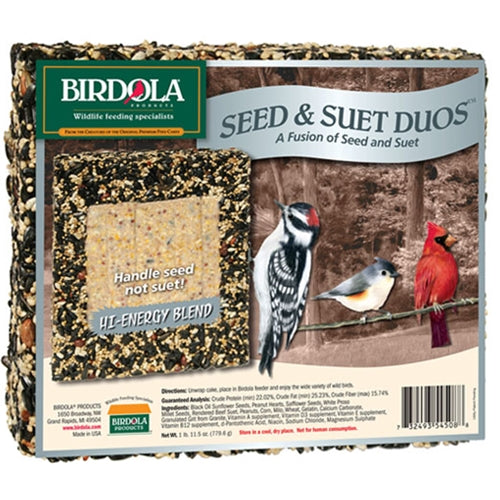 Birdola - Duo High Energy Seed and Suet Cake