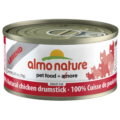 Almo Nature Legend Natural Chicken Drumstick Canned Food for Cats