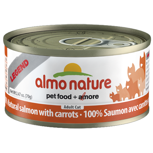 Almo Nature Legend Natural Salmon with Carrots Canned Food for Cats