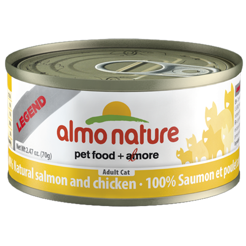 Almo Nature Legend Natural Salmon and Chicken Canned Food for Cats