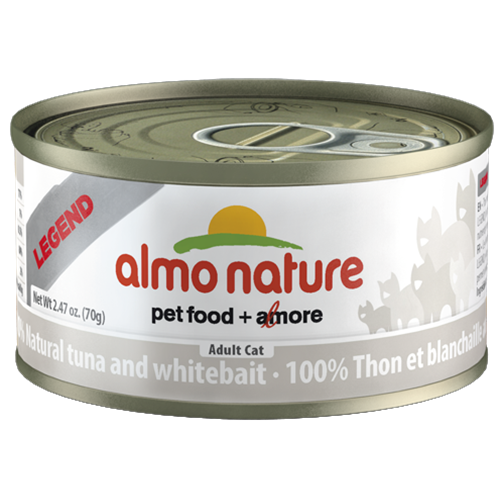 Almo Nature Legend Natural Tuna and Whitebait Canned Food for Cats