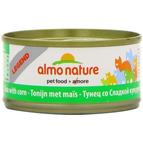 Almo Nature Legend Natural Tuna with Corn Canned Food for Cats