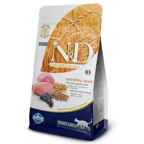 Farmina Natural & Delicious Lamb & Blueberry Low Grain Formula Dry Cat Food