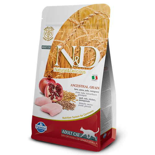 Farmina Natural & Delicious Chicken & Pomegranate Low Grain Formula Dry Cat Food