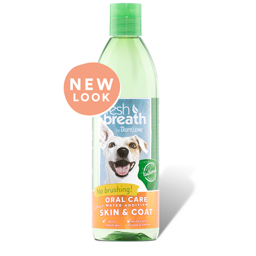 Tropiclean Fresh Breath + Skin and Coat Oral Care Water Additive