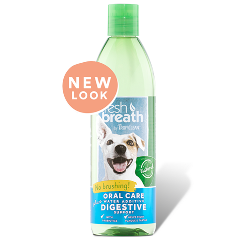 Tropiclean Fresh Breath + Digestive Supplement Water Additive