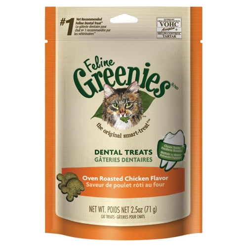 Greenies Oven Roasted Chicken Dental Treats for Cats
