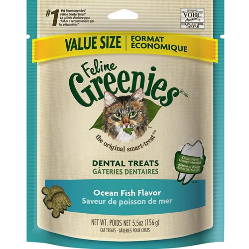 Greenies Oceanfish Dental Treats for Cats