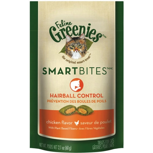 Greenies Smart Bites Chicken Hairball Control Treats for Cats