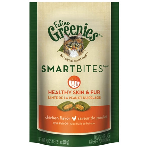 Greenies Smart Bites Chicken Skin and Coat Treats for Cats