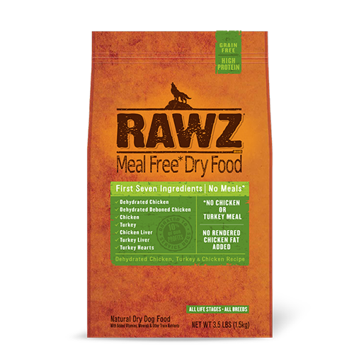 RAWZ Dehydrated Chicken and Turkey Recipe for Dogs