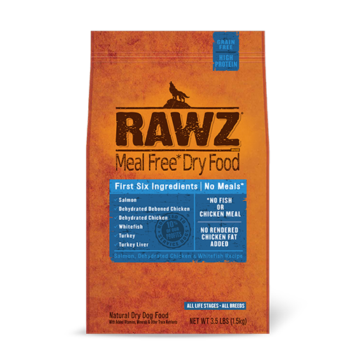 RAWZ Salmon, Dehydrated Chicken and Whitefish Recipe for Dogs