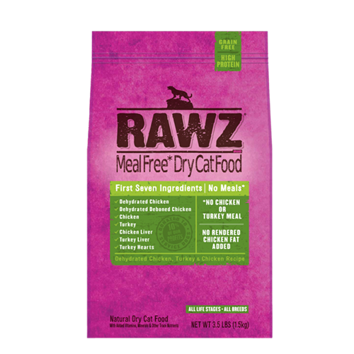 RAWZ Dehydrated Chicken and Turkey Recipe for Cats