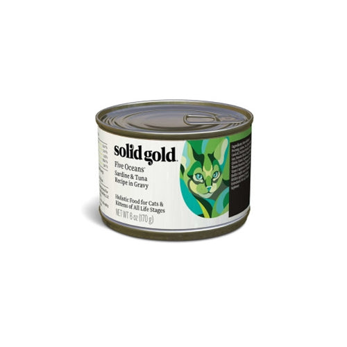 Solid Gold Five Oceans Sardine and Tuna Canned Cat Food