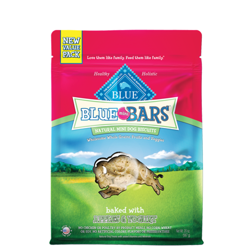Blue Buffalo Mini Bars Baked with Apples and Yogurt Dog Treats