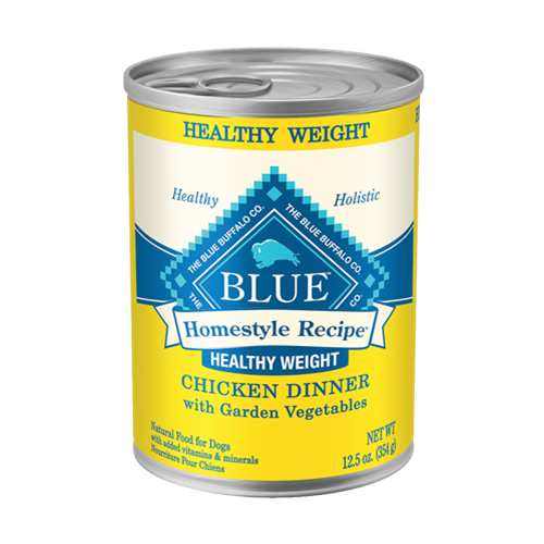 Blue Buffalo Homestyle Recipe Healthy Weight Chicken Dinner Canned Dog Food
