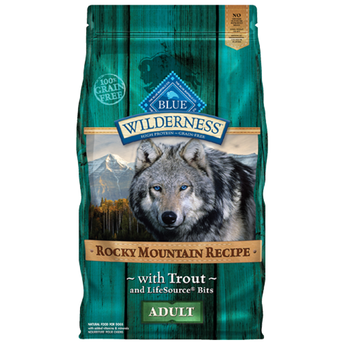 Blue Buffalo Wilderness Grain Free Rocky Mountain Trout Recipe Dry Dog Food