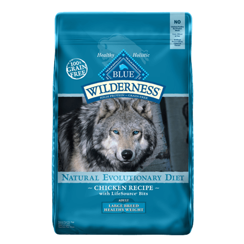 Blue Buffalo Wilderness Grain Free Large Breed Healthy Weight Chicken Dry Dog Food