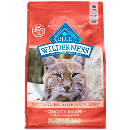 Blue Buffalo Wilderness Grain Free Indoor Hairball and Weight Control Dry Cat Food