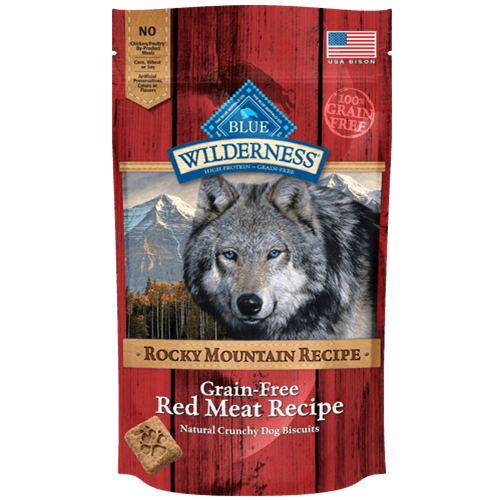 Blue Buffalo Wilderness Grain Free Red Meat Trail Treats Dog Biscuits