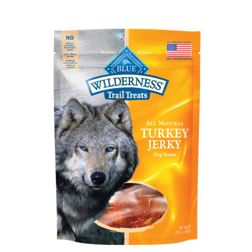 Blue Buffalo Wilderness Grain Free Wild Bites Turkey Jerky Dog Treats