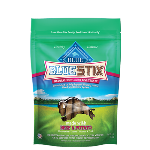 Blue Buffalo Blue Stix Beef and Potato Soft and Moist Dog Treats