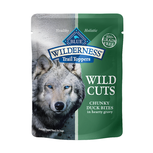 Blue Buffalo Wilderness Wild Cuts Chunky Duck Topper Canned Dog Food