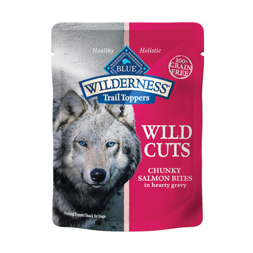 Blue Buffalo Wilderness Wild Cuts Chunky Salmon Topper Canned Dog Food