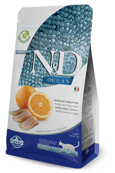 Farmina Natural & Delicious Ocean Herring & Orange Adult Cat Food