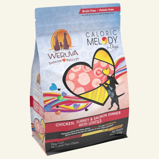 Weruva Caloric Melody Chicken, Turkey and Salmon Dinner with Lentils Dry Dog Food
