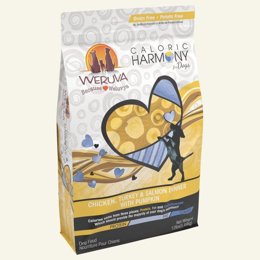 Weruva Caloric Harmony Chicken, Turkey and Salmon Dinner with Pumpkin Dry Dog Food