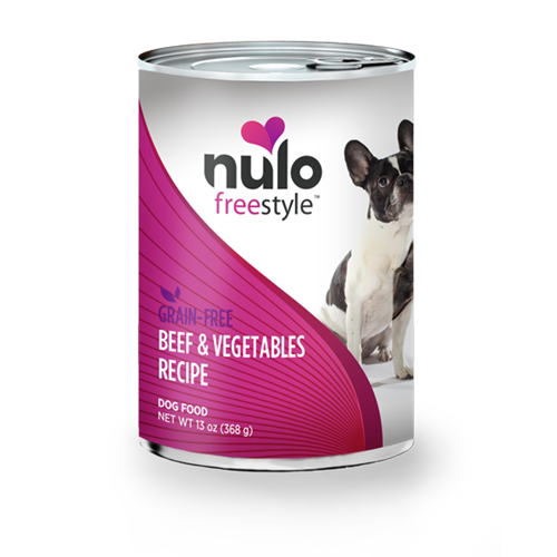 Nulo FreeStyle Grain Free Beef and Vegetables Canned Dog Food