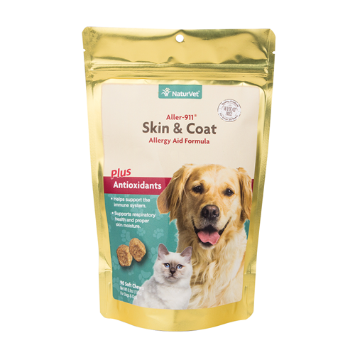 NaturVet Aller-911 Skin and Coat Soft Chew for Dogs and Cats
