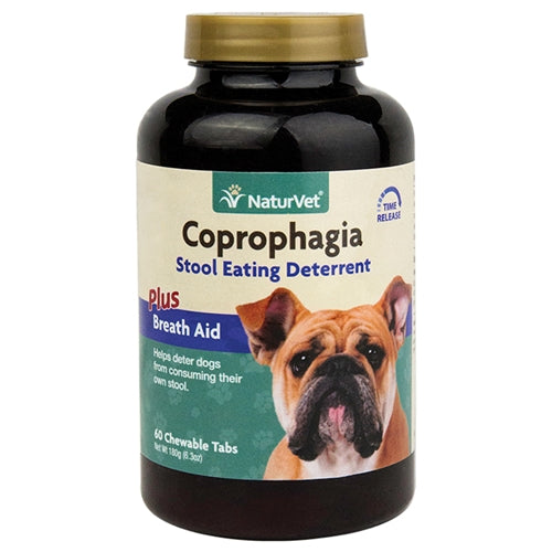 NaturVet Coprophagia Plus Breath Aid Tabs for Dogs