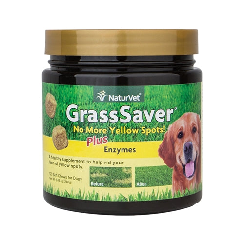 NaturVet GrassSaver Plus Enzymes Soft Chew for Dogs
