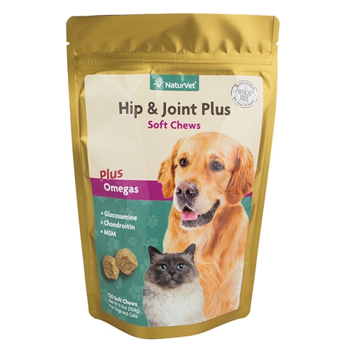 NaturVet Hip & Joint Plus Soft Chew for Cats and Dogs