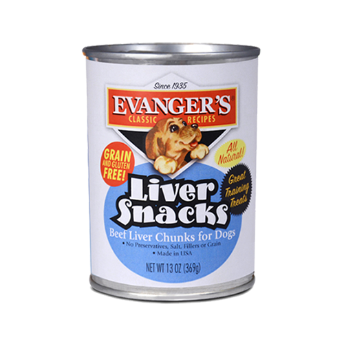 Evangers All Natural Classic Liver Snacks Canned Dog Food