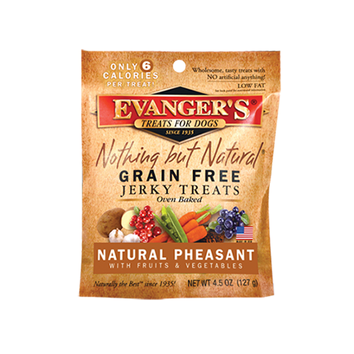 Evanger's Grain Free Pheasant Jerky Dog Treat
