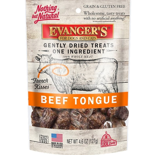 Evanger's Grain Free Raw Gently Dried Beef Tongue Treats