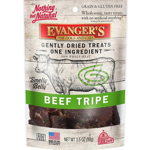 Evanger's Grain Free Raw Gently Dried Beef Tripe Treats
