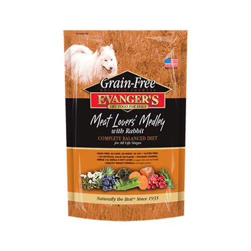 Evangers Grain-Free Meat Lover's Medley with Rabbit Dry Dog Food