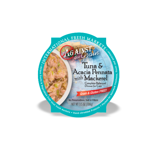 Against the Grain Tuna & Acacia Pennata With Mackerel Dinner for Cats
