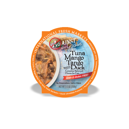 Against the Grain Tuna Mango Tango With Duck Dinner for Cats